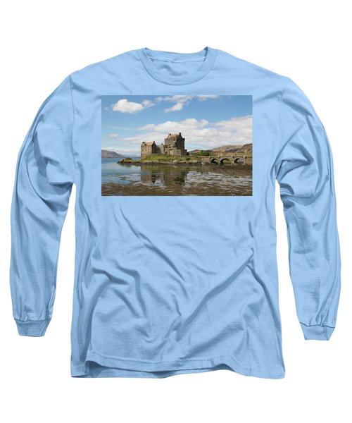 Long Sleeve T-Shirt featuring the photograph Eilean Donan Castle - Scotland by Karen Van Der Zijden