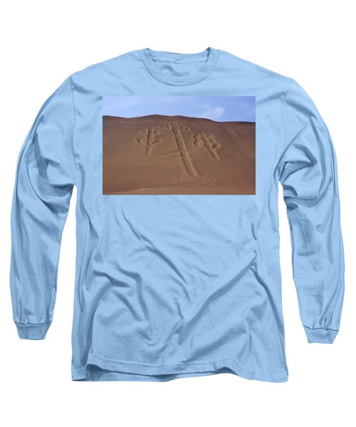 Long Sleeve T-Shirt featuring the photograph El Candelabro Peru by Aidan Moran