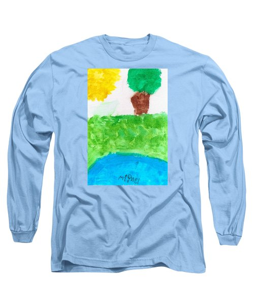 Long Sleeve T-Shirt featuring the painting El Paisaje by Artists With Autism Inc
