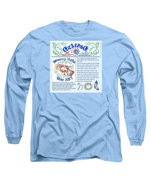 Real Fake News Merry Yule Column Long Sleeve T-Shirt