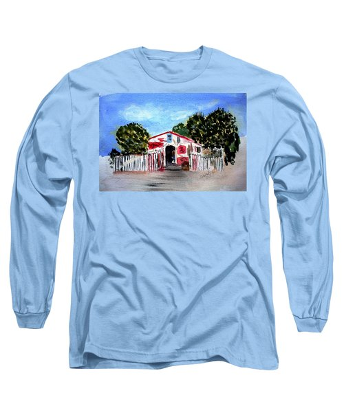 Long Sleeve T-Shirt featuring the painting Emiles Road Side Grocer by Donna Walsh
