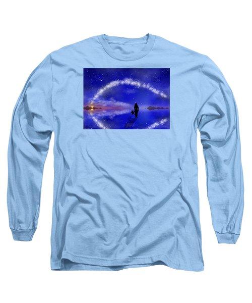 Long Sleeve T-Shirt featuring the digital art Emily's Journey Part 1 by Bernd Hau