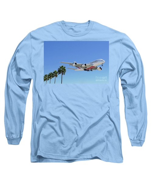 Emirates A380 At Lax Long Sleeve T-Shirt