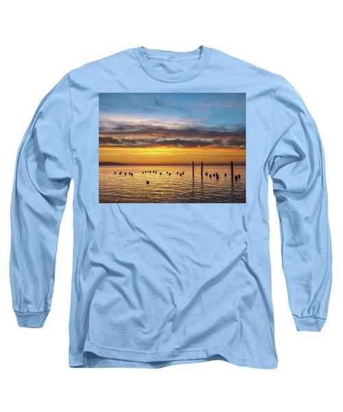 End Of The Day On Humboldt Bay Long Sleeve T-Shirt by Greg Nyquist