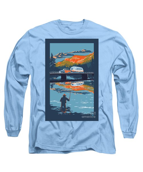 Enderby Cliffs Retro Airstream Long Sleeve T-Shirt