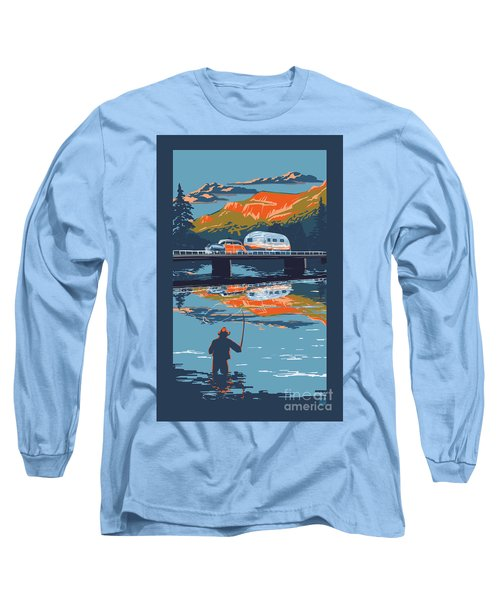 Enderby Cliffs Retro Airstream Long Sleeve T-Shirt