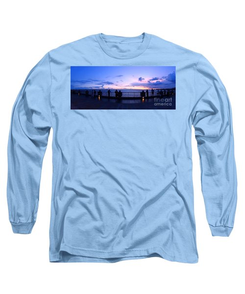 Enjoying The Beautiful Evening Sky Long Sleeve T-Shirt by Yali Shi
