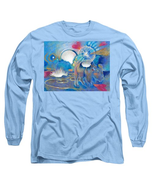 Eruption Of A Wish At The Fire Ceremony Long Sleeve T-Shirt