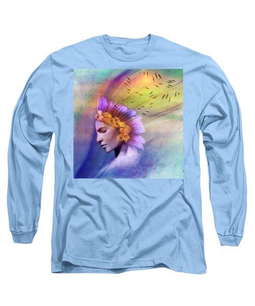 Ether Long Sleeve T-Shirt by Scott Meyer