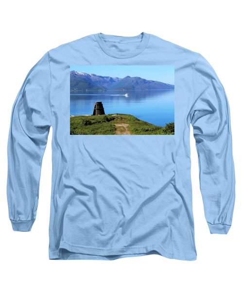 Evenes, Fjord In The North Of Norway Long Sleeve T-Shirt by Tamara Sushko