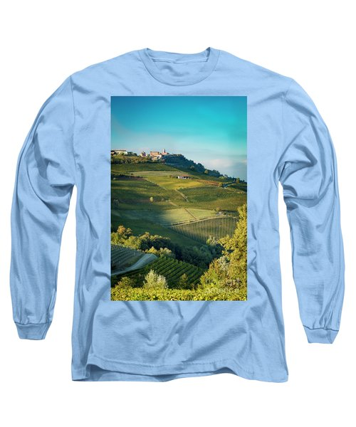 Long Sleeve T-Shirt featuring the photograph Evening In Piemonte by Brian Jannsen