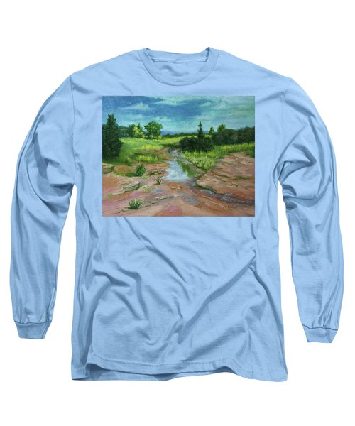 Long Sleeve T-Shirt featuring the painting Evening Light by Roena King