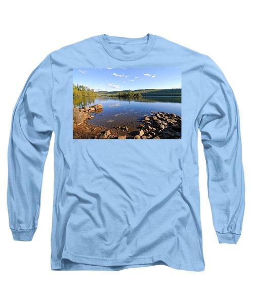 Evening On Cedar Lagoon Pine Lake Long Sleeve T-Shirt by Larry Ricker