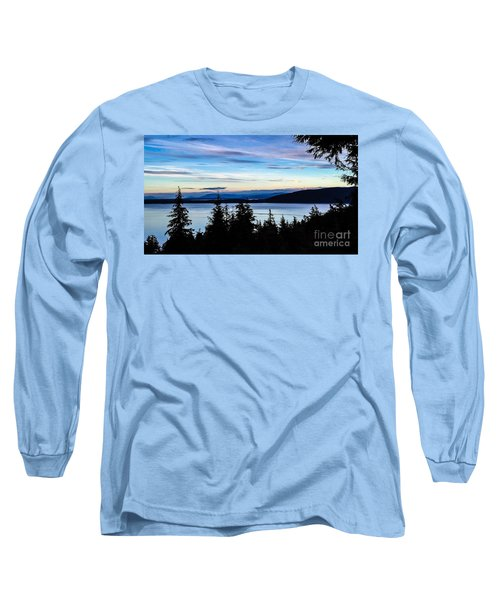 Long Sleeve T-Shirt featuring the photograph Evening Sky by William Wyckoff