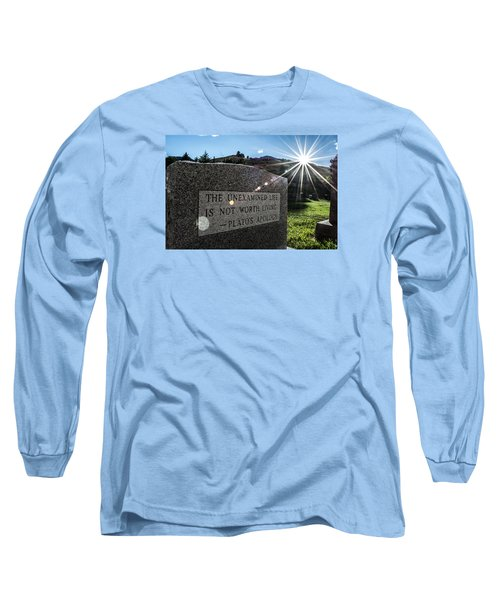 Examined Life Color Long Sleeve T-Shirt by Rhys Arithson