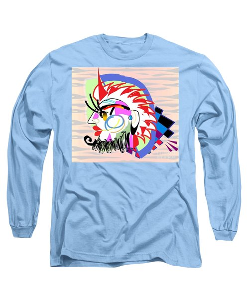 Exotic Mask Long Sleeve T-Shirt by Belinda Threeths