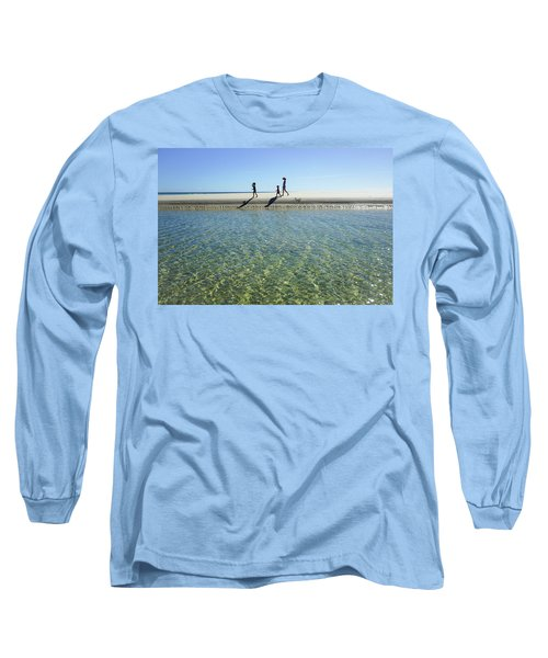 Exploring A Tidal Beach Lagoon Long Sleeve T-Shirt