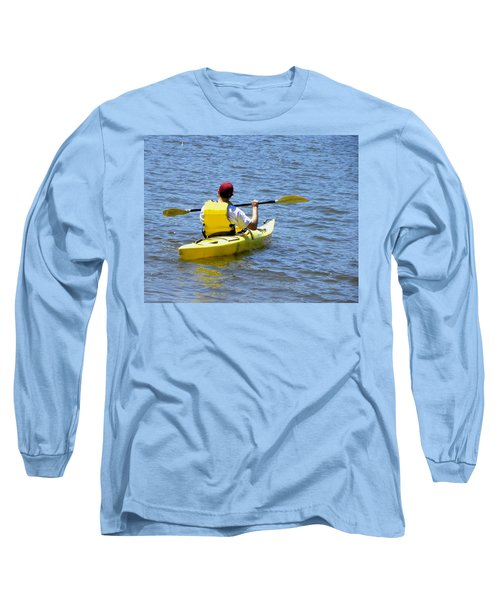 Long Sleeve T-Shirt featuring the photograph Exploring In A Kayak by Sandi OReilly