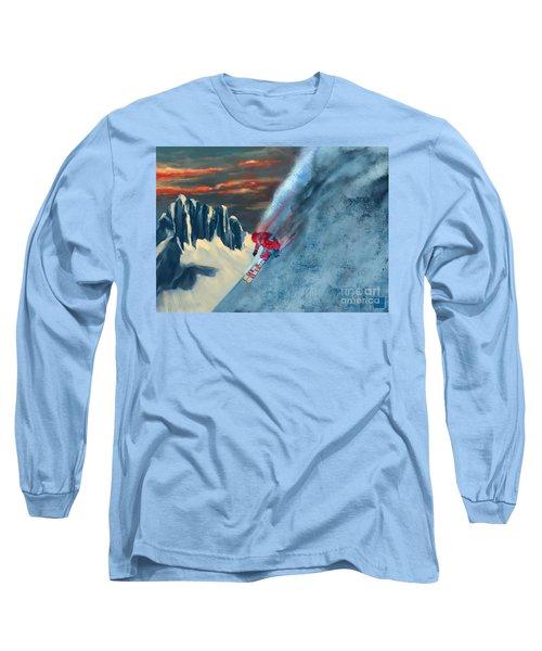 Extreme Ski Painting  Long Sleeve T-Shirt