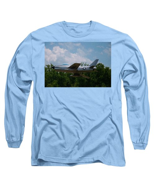 Long Sleeve T-Shirt featuring the digital art F-86l Sabre by Chris Flees