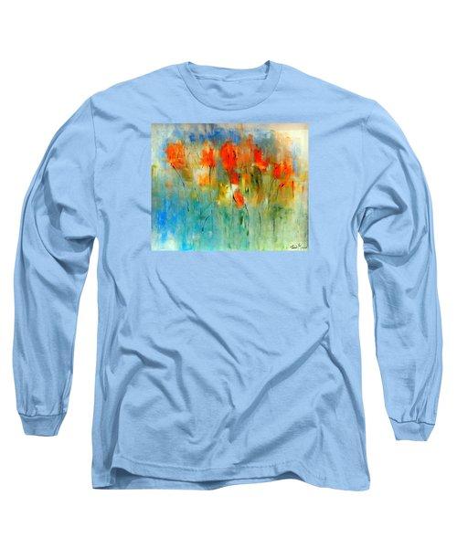 Faded Warm Autumn Wind Long Sleeve T-Shirt by Lisa Kaiser