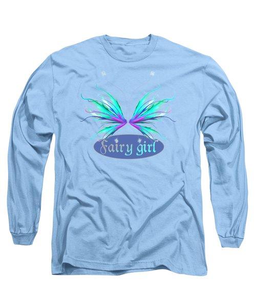 Fairy Girl Feathery Wings Long Sleeve T-Shirt
