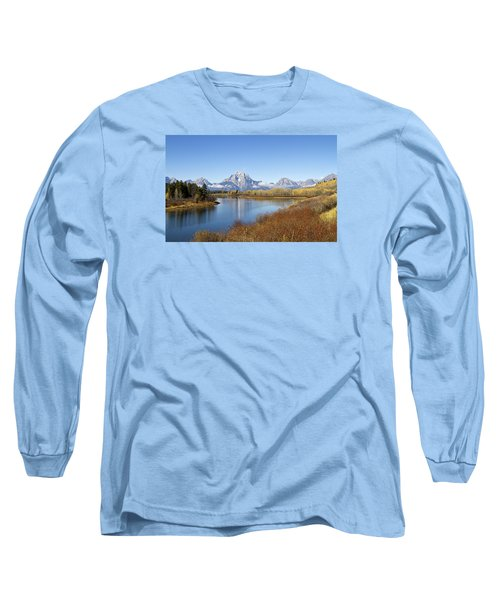 Fall At Teton -2 Long Sleeve T-Shirt by Shirley Mitchell