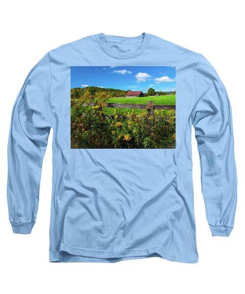 Fall Farm Long Sleeve T-Shirt by Rebecca Hiatt