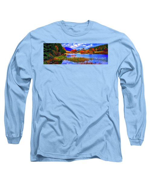 Long Sleeve T-Shirt featuring the photograph Fall On Long Pond Acadia National Park Maine  by Tom Jelen