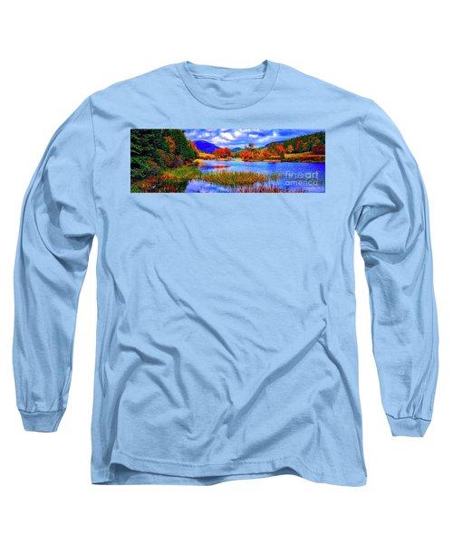 Fall On Long Pond Acadia National Park Maine  Long Sleeve T-Shirt