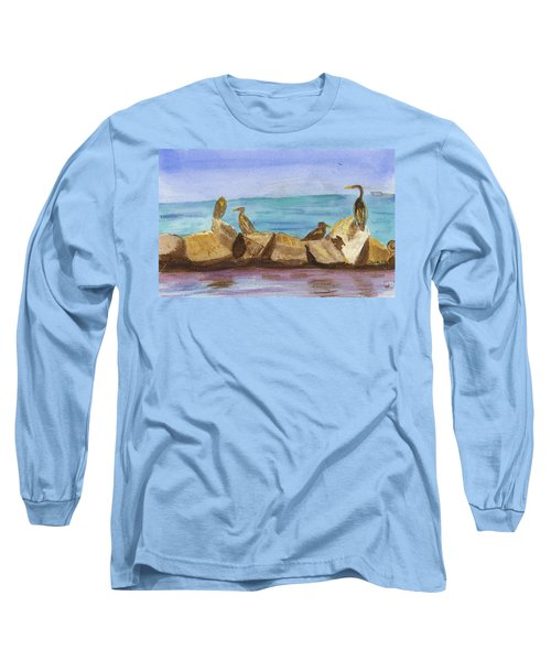 Long Sleeve T-Shirt featuring the painting Falmouth Mass by Donna Walsh