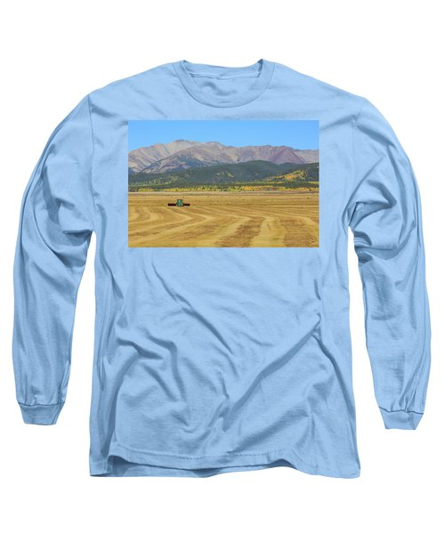 Long Sleeve T-Shirt featuring the photograph Farming In The Highlands by David Chandler