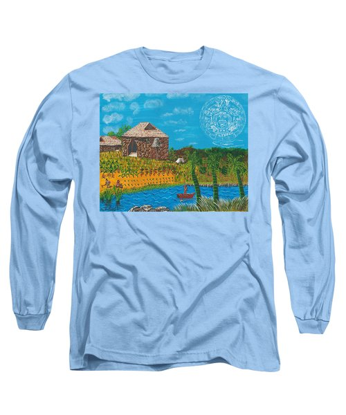 February  Mayan Farm Long Sleeve T-Shirt
