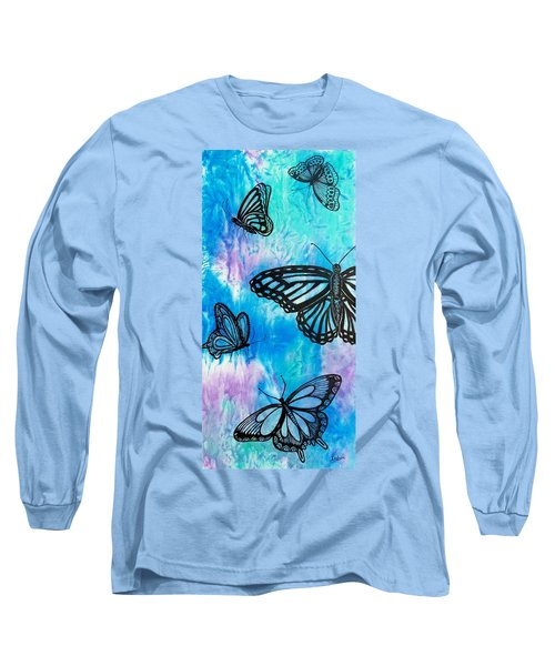 Long Sleeve T-Shirt featuring the painting Feeling Free by Susan DeLain