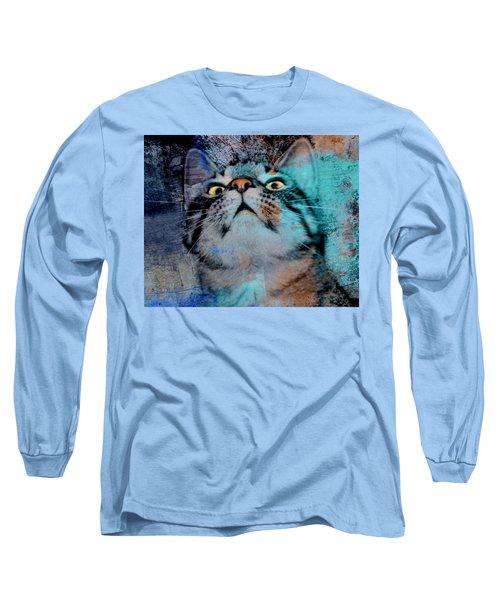 Feline Focus Long Sleeve T-Shirt by Kathy M Krause