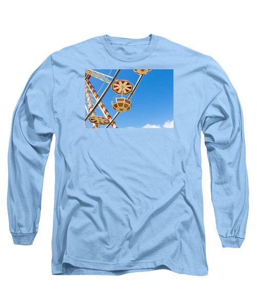 Ferris Wheel Cars In Toulouse Long Sleeve T-Shirt by Semmick Photo