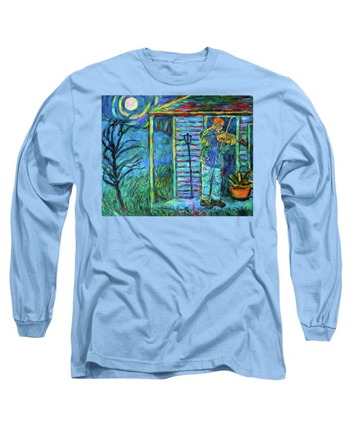 Fiddling At Midnight's Farm House Long Sleeve T-Shirt