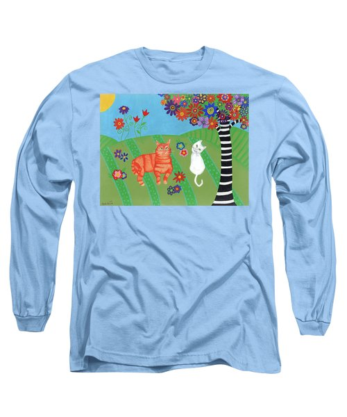 Field Of Cats And Dreams Long Sleeve T-Shirt