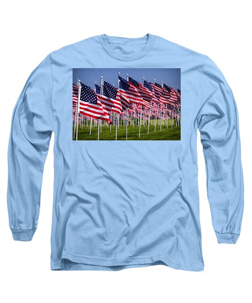 Field Of Flags For Heroes Long Sleeve T-Shirt