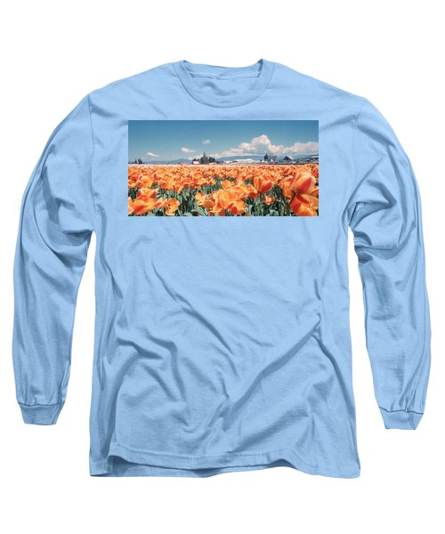 Field Of Orange Long Sleeve T-Shirt