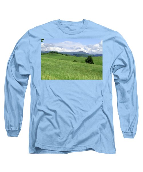 Long Sleeve T-Shirt featuring the photograph Fields And Hills  by Emanuel Tanjala