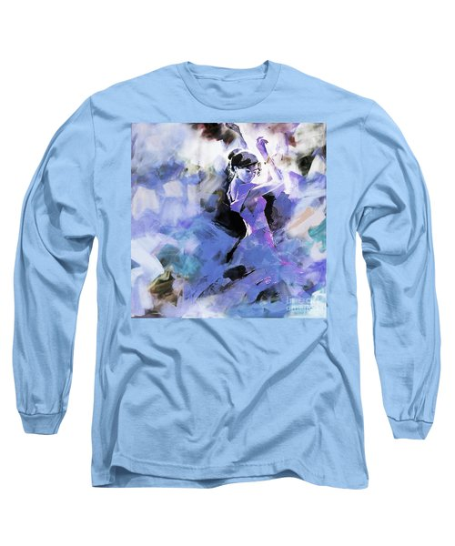 Long Sleeve T-Shirt featuring the painting Figurative Dance Art 509w by Gull G