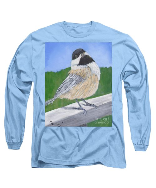 Finch Long Sleeve T-Shirt by Patricia Cleasby