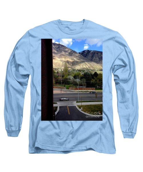 Long Sleeve T-Shirt featuring the photograph Fire Hydrant Guarding The Byu Y by Richard W Linford