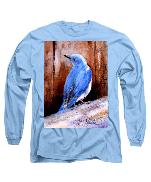 Firehole Bridge Bluebird - Male Long Sleeve T-Shirt