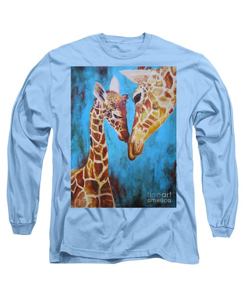 Long Sleeve T-Shirt featuring the painting First Love by Ashley Price