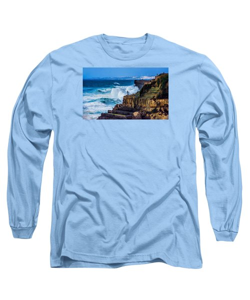 Long Sleeve T-Shirt featuring the photograph Fisherman And The Sea by Marion McCristall