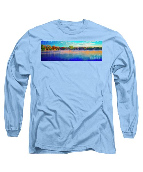 Fishing On Crystal Lake, Il., Sport, Fall Long Sleeve T-Shirt