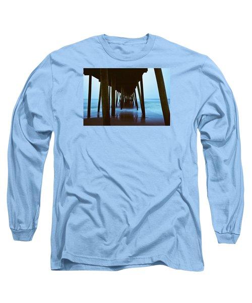 Fishing Pier Long Sleeve T-Shirt by Scott Meyer