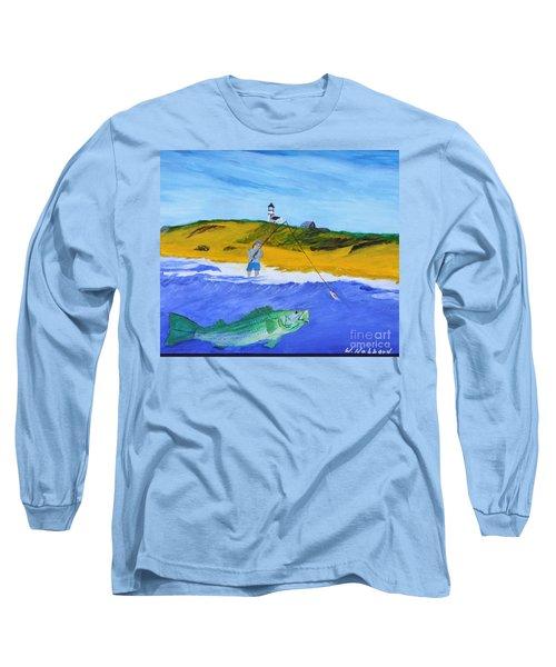 Fishing Under Highland Light Long Sleeve T-Shirt by Bill Hubbard